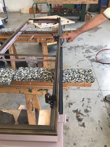 Window during fabrication