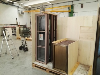 Windows being prepared for shipment