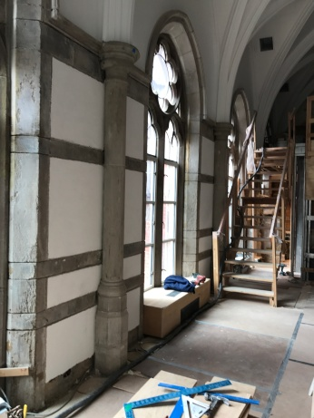 During renovation, existing windows that were removed.