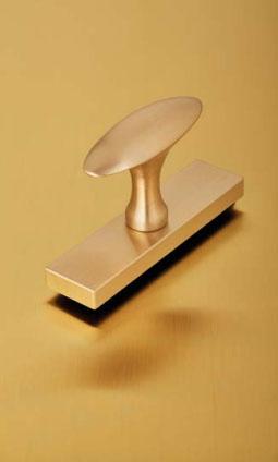 Oval Vitruvio-Satin Brass